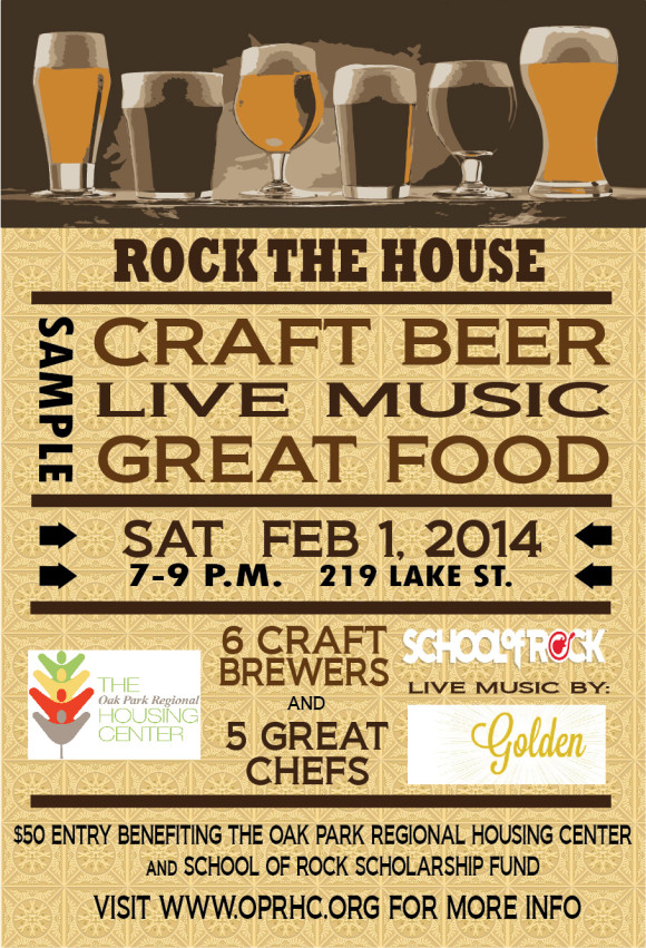 Rock the House - 6 Craft Beers, 5 Special Chef Recipes, and 2 Rockin' Bands make for a fun evening to support two great causes!