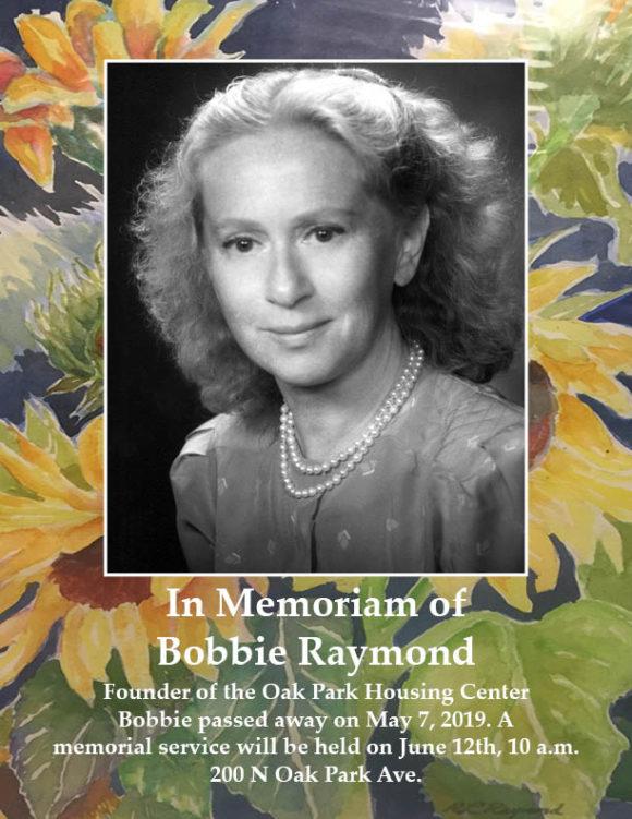 Bobbie Raymond memorial