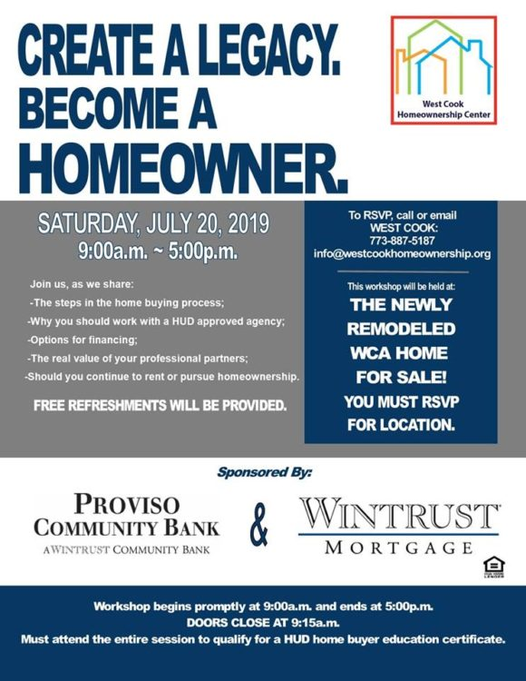 free homeownership workshop